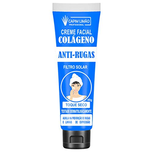 Creme Facial Capim Limão Colágeno Anti-Rugas 40g