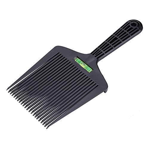 TXYFYP - Peine de doble peine, peine, peine, peine, cepillo de pelo, herramienta de peluquería con regla de equilibrio de burbuja líquida, No cero., Negro , 26,7 x 12,5 cm