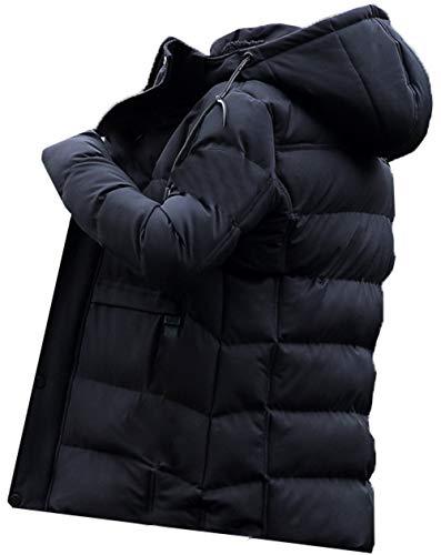 cxzas852 Gepolsterte Herren Kapuzenjacke Mit Fleece gefütterter WintermantelKapuzenjacke Plus Samtverdickung