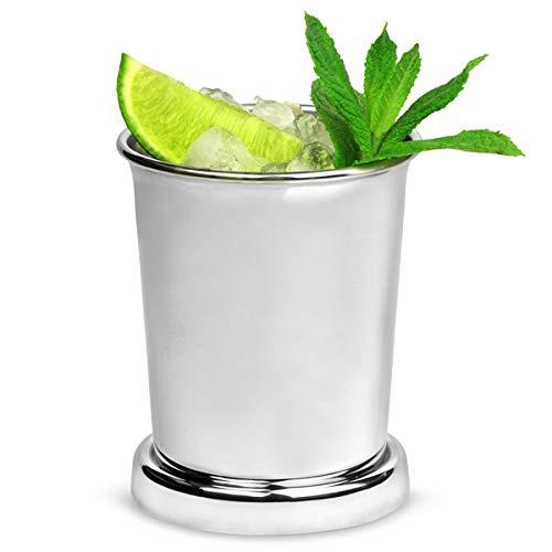 Edelstahl Julep Tasse/Designergläser, 400ml Vintage Stil mint Julep Cocktail Cup für Cocktail Präsentation