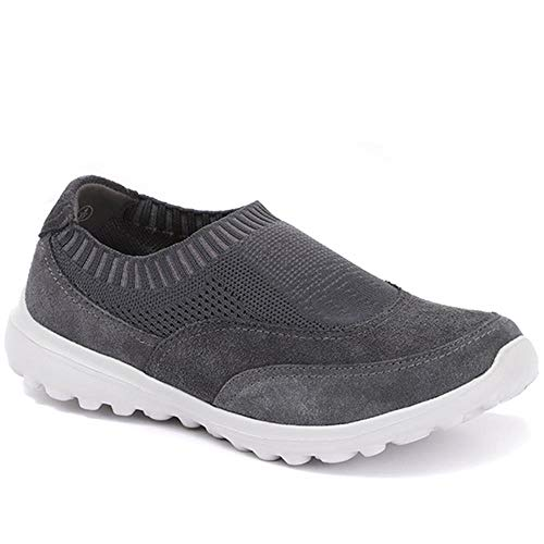 Pavers Mujer Zapatillas Deportivas Sin Cordones Carbón 41 EU