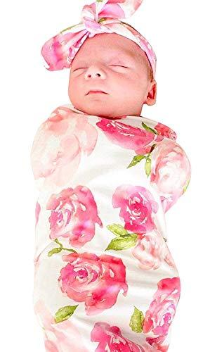 Baby dekens, pasgeboren baby slaap Swaddle deken, pasgeboren baby muts