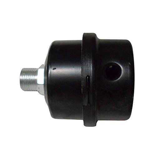 SODIAL 3/8'PT silenziatore di filtro di filettatura maschio di guscio in metallo compressore d'aria
