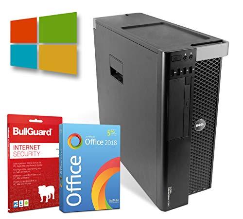 Dell Precision T3610 Tower| Intel Xeon-E5-1620-V2@ 3,7GHz | 16GB | 500GB HDD | DVD-Brenner | Nvidia Quadro K4000 | Windows 10 Pro | BullGuard | SoftMaker Office