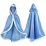 Proumhang Disfraz de Princesa Capa de Princesa para Niñas Disfraces para Halloween Trajes de Navidad Azul 110 para 3-4 años