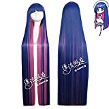 Anime Panty & Stocking With Garterbelt Cosplay Wig Anarchy 120Cm Long Straight Blue Pink Costume Party Cartoon Universal Wigs One Size Anarchy Wig Pl-040