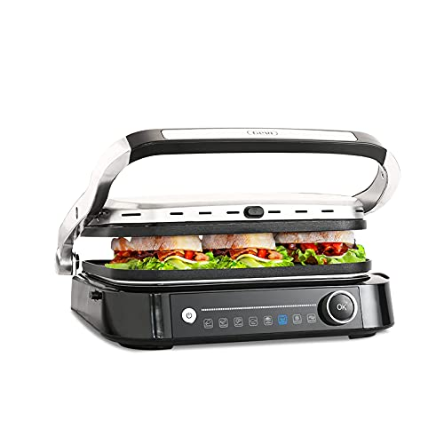Contact Grill with 6 Preset Menus, Gevi Electric Grill with Nonstick Plates, Thickness Measurement,...