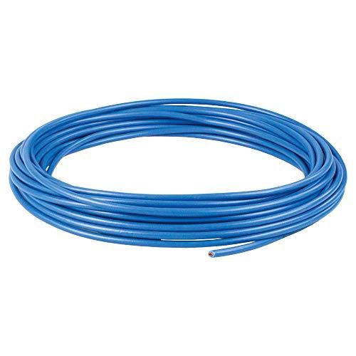 as - Schwabe Anschlussleitung 5 m – Leitung H07V-K 1,5 mm² – Feindrähtiger Kupferleiter mit Kunststoff-Isolierung – Zur Verdrahtung von Steckdosen und Leuchten – Blau – Hergestellt in EU I 30040