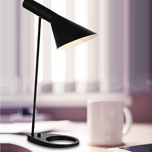 Shenlijuan Nórdico minimalista moderna lámpara de escritorio sensor de aprendizaje creativo simple de la personalidad E27 interfaz interruptor de botón decorativo dormitorio Estudio de noche lámpara d
