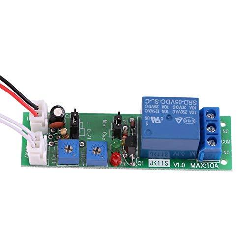 MóDulo de Temporizador, Relé de Retardo De Temporizador Dc 5V 12V 24V Placa de Controlador MóDulo de Interruptor de Temporizador de Ciclo De Retardo Apagado Ajustable(DC 12V 0-120 minutos ajustable)