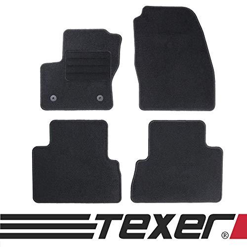 TEXER Textil Fußmatten Passend für Ford C-Max II Bj. 2012-2019 Basic