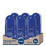 NIVEA Protege & Cuida Roll-on en pack de 6 (6 x 50 ml), desodorante antitranspirante con...