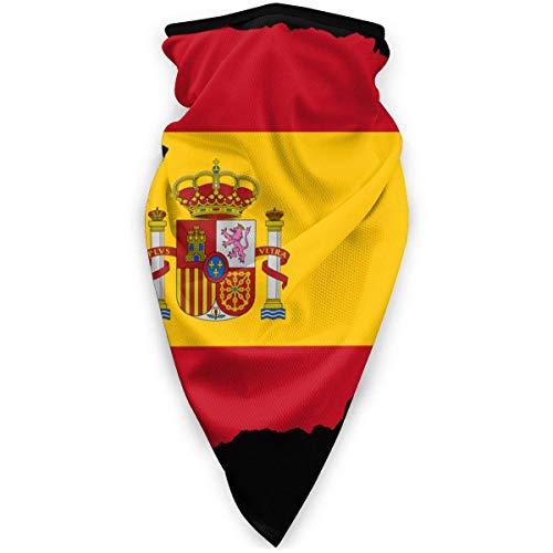 Bandana pasamontañas con diseño de bandera de España para hombre con impresión 3D al aire libre y resistente al viento