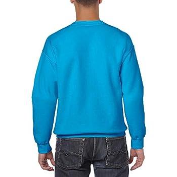 GILDAN 50/50 Adult Crewneck Sweat Maillot de survêtement, Bleu Saphir, L Homme
