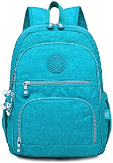ZJJUN New Backpack Backpacks School Backpack for Teenage Girls Female Laptop Bagpack Travel Bag, Size:27X13X37cm(Black) (Color : Light blue)