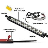 CoCsmart 2PC Flexible Switchback Dual-Color White & Amber Motorcycle LED Fork Turn Signal Blinkers DRL Daytime Running Light Waterproof Adjustable Stips Bars kit Universal Fit Motorbike (39mm-70mm)