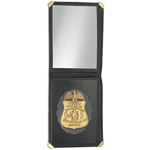 Cartera + Placa FBI - Federal Boreau of Investigation | Cartera de Polipiel identificativa con Chapa/Insignia para decoración, coleccionismo y atrezzo