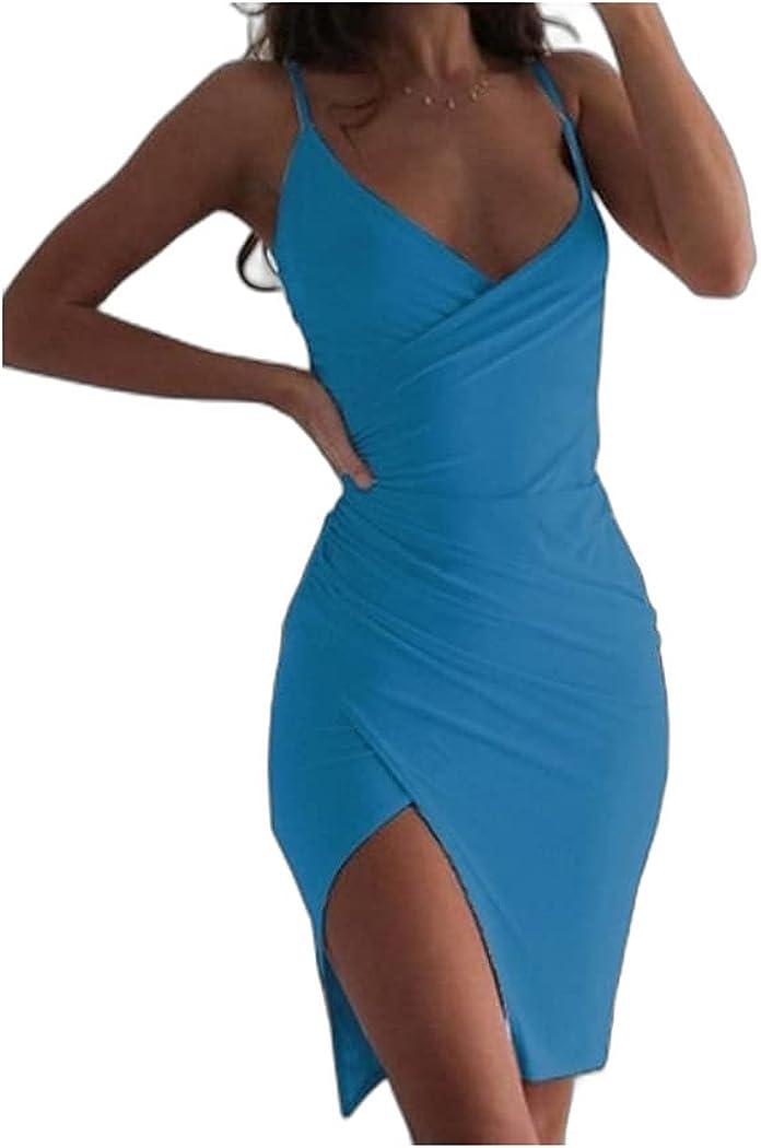 Women's Strap Dress Short Mini Dress Blushing Pink Wine Black Green Light Blue Sleeveless
