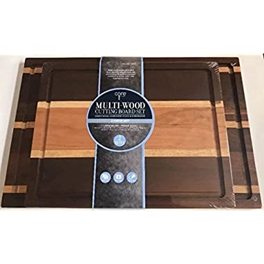 Core Kitchen - Multi-Wood Cutting Boards - 2 Piece set
