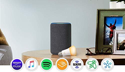 Echo Plus (2nd Gen) with Philips Hue Bulb - Alexa smart home starter kit - Charcoal