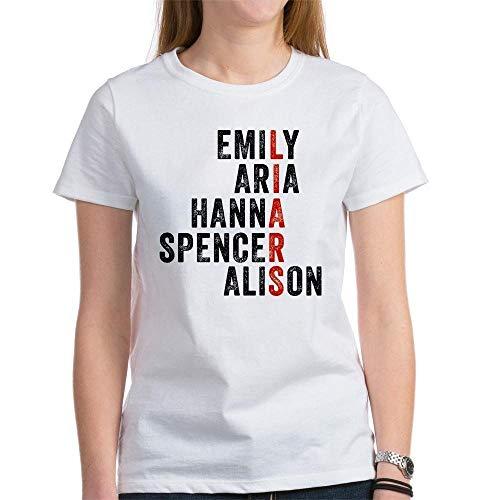 SKQIT T-Shirt Fun Fun Junior pour Femmes Pretty Little Liars Names Tee-Shirts col Rond