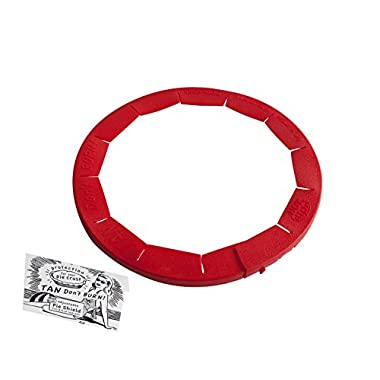 Talisman Designs Adjustable Pie Crust Shield, BPA-free Silicone, Red, Fits 8.5  - 11.5  Rimmed Dish
