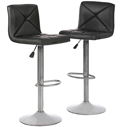Bar Stools Set of 2 Counter Height Swivel Stool PU Leather Modern Height Adjustable Swivel Barstools Hydraulic Chair Bar Stools