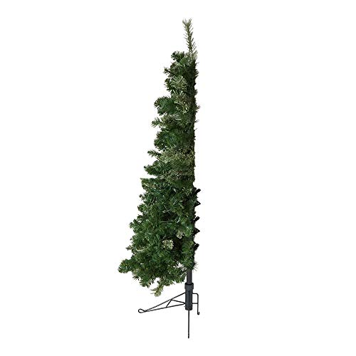 Home Heritage Cashmere 5 Foot Artificial Christmas Half Tree with Warm White LED Lights and Stand
