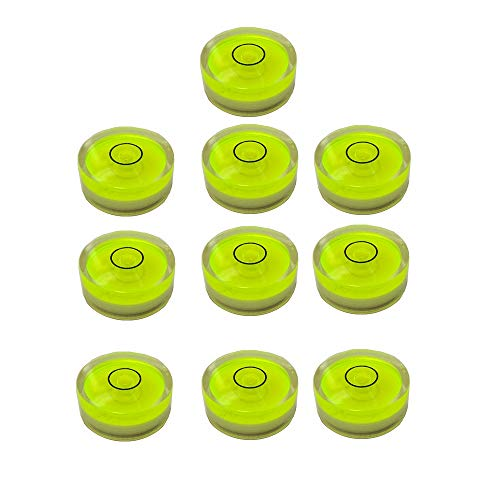 10x Bubble Spirit Level Degree Mark, 18x9mm Circular Bullseye Level Inclinometers Use for Tripod, honograph,Turntable