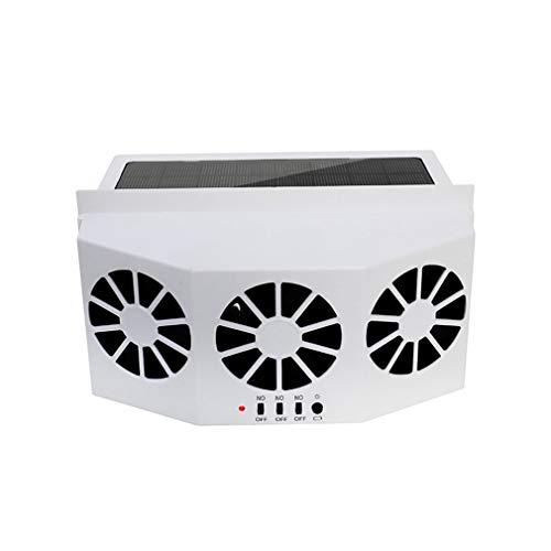 Nsdsb Material Ventilador de ventilación del Coche Atemperador Solar Ventilador de Escape del Coche Radiador Blanco