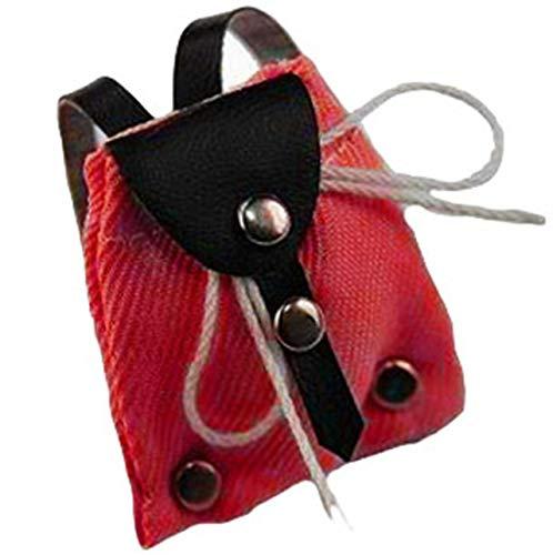 alles-meine.de GmbH Rucksack Tasche rot Miniatur für Puppenstube Puppenhaus - Maßstab 1:12 - Wanderrucksack / Wandern - Wanderurlaub Deko