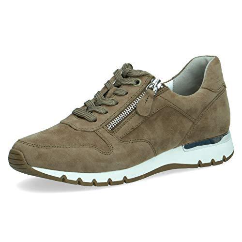 CAPRICE Damen Halbschuhe, Frauen Low-Top Sneaker,lose Einlage,Weite: H (Weit),Freizeitschuhe,weiblich,Lady,Ladies,Cactus Suede,39 EU / 6 UK