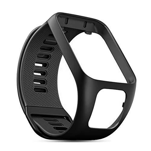 C CYEESON Bracelet de rechange pour montre TomTom Runner 2/TomTom Golfer 2/TomTom Spark 3/TomTom Runner 3/TomTom Adventurer Watch Band Soft Silicone Bracelet Smartwatch