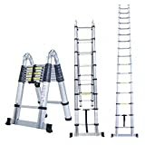 Smarty Double Telescopic Mag Hinge and Dual Ultra Stabilizer Portable Aluminium Ladder (5 m/16.5 ft)
