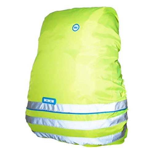 WOWOW Bag Couver Fun Line - Copertura Riflettente per Zaino di Copertura, 30 l, Colore: Giallo