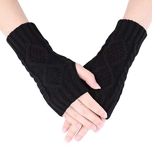 Guantes de invierno para mujer, sin dedos, guantes de invierno, cálidos, para...