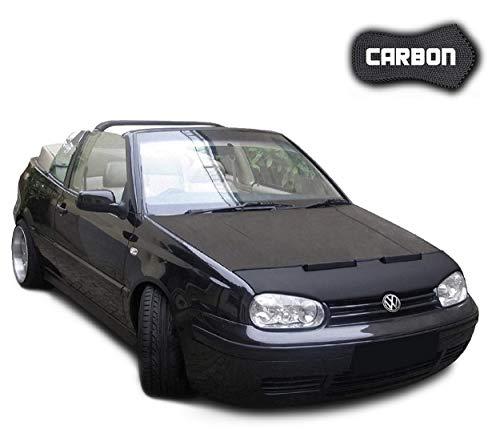 Black-Bull kompatibel mit Haubenbra VW Golf 4 Cabrio Carbon Steinschlagschutz Tuning Automaske