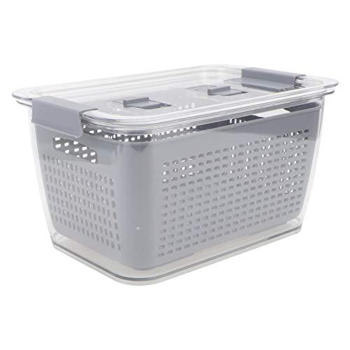 Cabilock Contenedor de Almacenamiento de Alimentos Caja Refrigerador Organizador Contenedor Refrigerador Organizador Contenedor Contenedor de Almacenamiento de Alimentos para Frutas Y