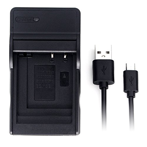 DMW-BCG10 USB Charger for Panasonic Lumix DMC-TZ10, DMC-TZ20, DMC-TZ22, DMC-TZ6, DMC-TZ7, DMC-TZ8, DMC-ZR1, DMC-ZR3, DMC-ZS1, DMC-ZS3, DMC-ZS5, DMC-ZS7, DMC-ZX1, DMC-ZX3 Camera Battery and More