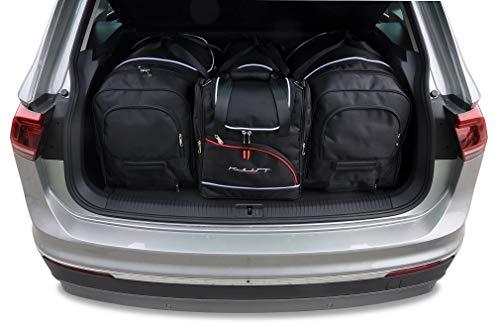 KJUST Dedizierte Kofferraumtaschen 4 STK Set kompatibel mit VW TIGUAN II 2016 -