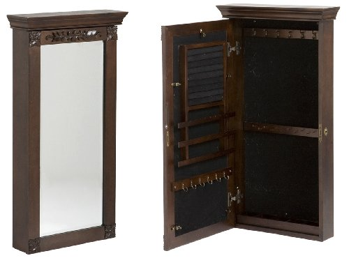 Holly & Martin Vivienne Wall-Mount Jewelry Armoire in Espresso
