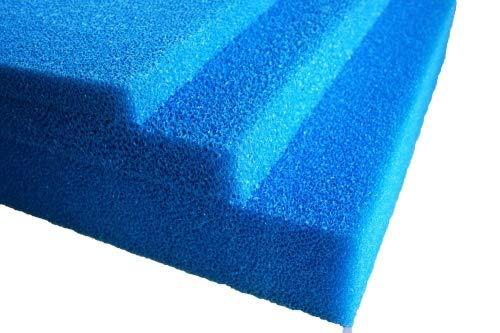 Pondlife Filterschaum blau 50x50x3 cm zur optimalen Verwendung als Filtermedium in Teichfiltern PPI PPI20 (mittel)