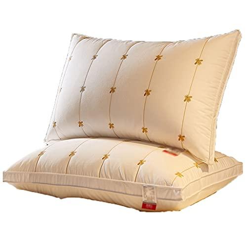 LYUN Almohadas de Almohadas de la Almohada de la Fibra de la Soja algodón 2 Paquete Reduzca el Dolor del Hombro y el Cuello (Color : Bilateral Middle Pillow 2 Pack)