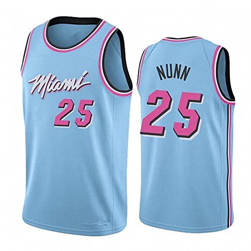 WYNBB Hombre Basketball T-Shirt,NBA Hot Fire Team 25# Ropa de Baloncesto,Camisetas Al Aire Libre Casual Mujer Redondo CháNdales,Blue,S