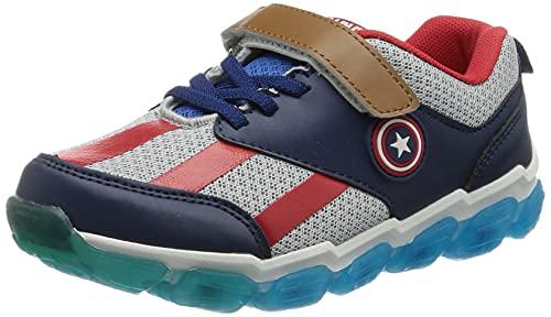 CERDÁ LIFE'S LITTLE MOMENTS Captain America Kinderschuhe Licht | LED Schuhe Kinder Jungen mit Offizieller Lizenz, Perlgrau, 27 EU
