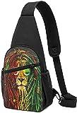 AOOEDM Rock Fashionm - Mochila para gafas de león, ligera, para el pecho, bolsa de riñón, multiusos, impermeable, para viajes, senderismo, deportes al aire libre
