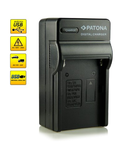 Neuheit - 4in1 Ladegerät mit micro USB Anschluss · 100{103431a03af083679a91a6784bfb9b838cef71c2583b34804c74b1a284ad6706} kompatibel mit NP-FM50 / NP-FM55H / NP-QM51 Akkus für Sony Cybershot DSC-F707   DSC-F717   DSC-F828, DSC-S30   DSC-S50   DSC-S70   DSC-S75   DSC-S85   DSLR-A100 (?100)   MVC-CD200/ MVC-CD250/ MVC-CD300/ MVC-CD350/ MVC-CD400   MVC-CD500 und weitere…