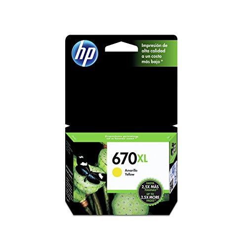 HP CZ120AL Cartucho de Tinta, Advantage No. 670 XL, amarillo