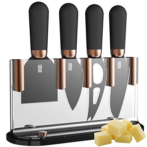 Taylors Eye Witness, Brooklyn, set di ceppo e 4 coltelli in rame per formaggio