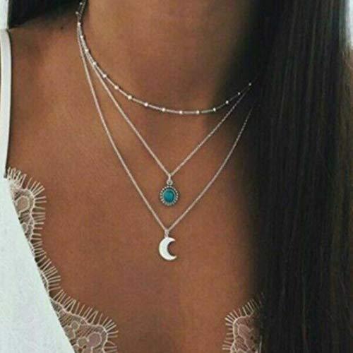 Gargantilla en Capas, Collar, gargantillas para Mujer, Collar de Cadena de Metal de Color Dorado y Plateado para Mujer, Collar, 898